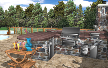 Design Your Patio And Outdoor Cooking Area.