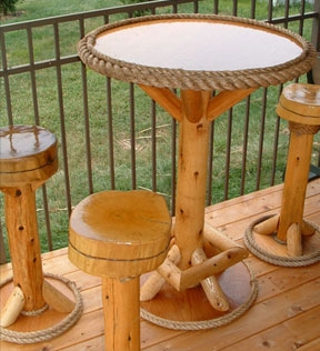 Build Tiki Bar Stools
