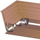 Use the Bench Maker bench bracket to build this bench for your deck or patio.
