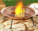 Keep your patio warm with a copper fire pit.