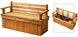 Freed deck bench plans with storage area.