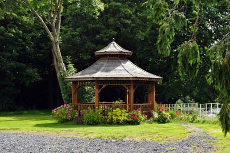 Shelter your hot tub with a gazebo in your garden