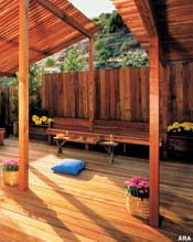 A great redwood fence for your deck or back yard
