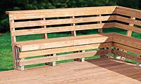 Building Your Own Deck Bench With Plans