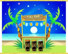 build your own tiki bar or tiki hut for your next luau or pacific island theme party