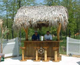 Tiki bars and tiki huts are easy to build