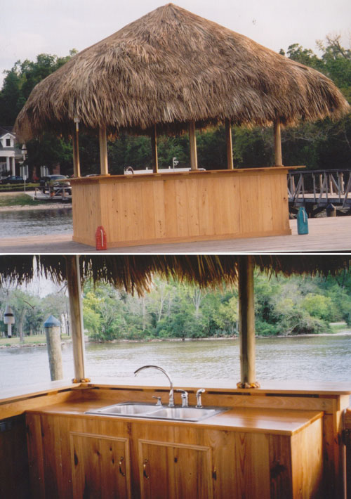 Build this tiki hut using a set of simple plans